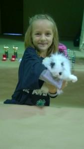 1st Time Showing a Rabbit:  Taylor Hardin, 6 yrs.