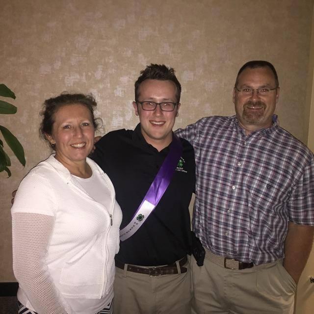 Michael Hopkins with his parents