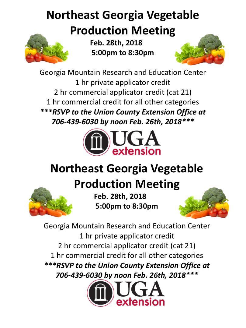vegetable production meeting poster