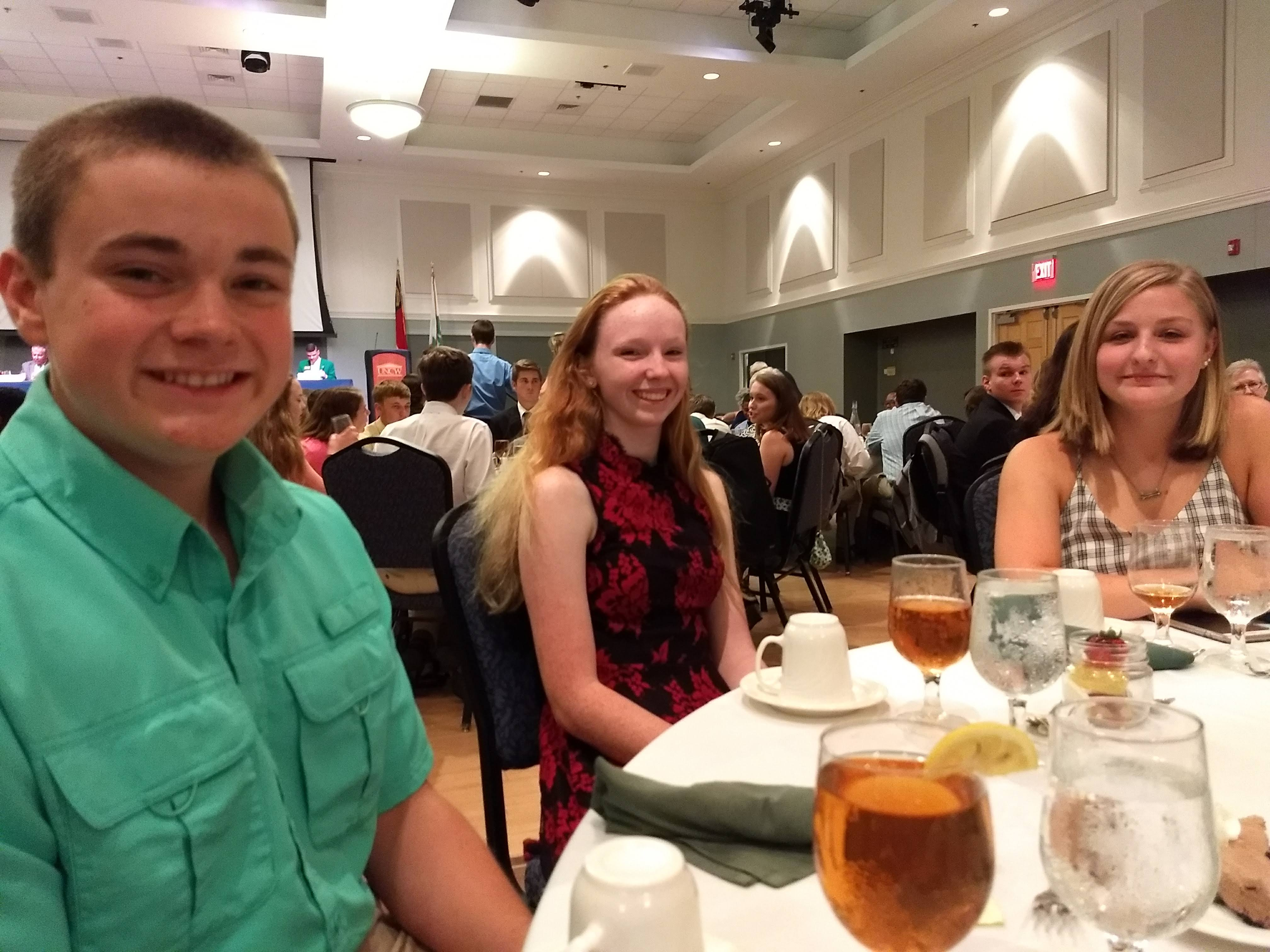 Youth delegation from Cherokee County at the awards dinner during Electric Congress