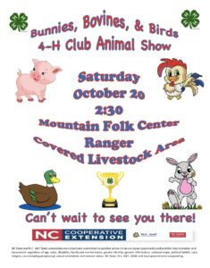 Cover photo for 4-H Animal Show October 20, 2018