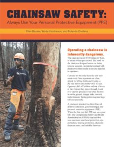 Cover photo for Chainsaw Safety Training
