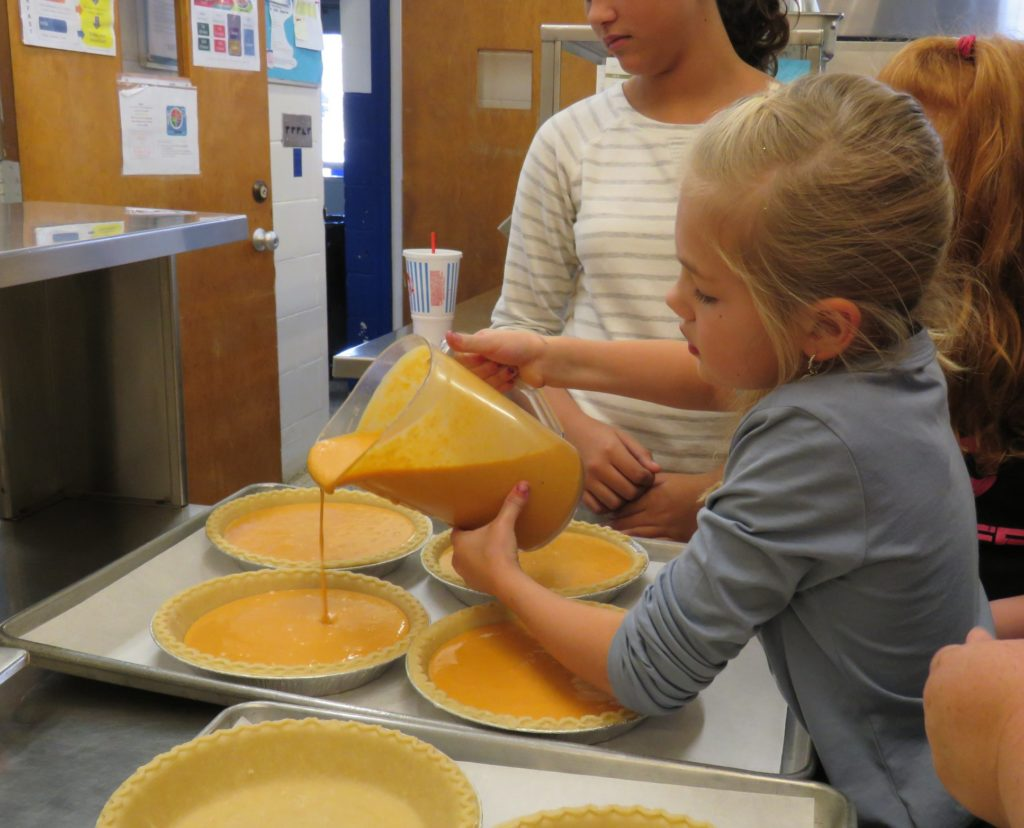 Image of kids making pie