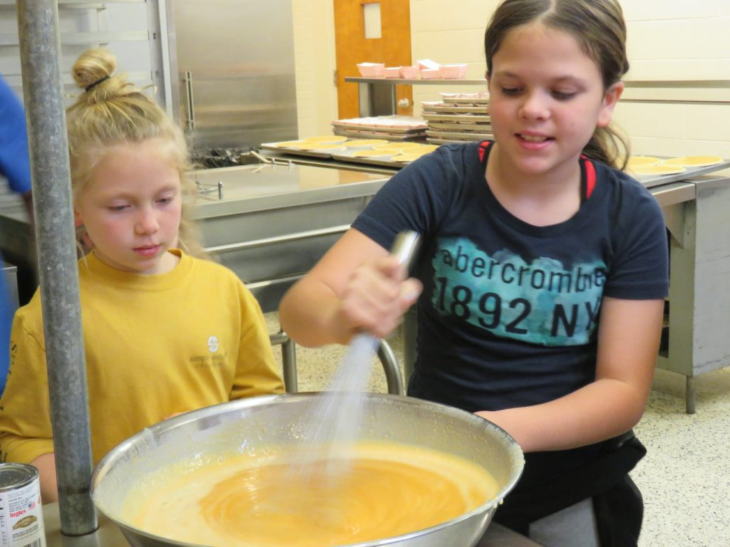Image of kids stirring batter