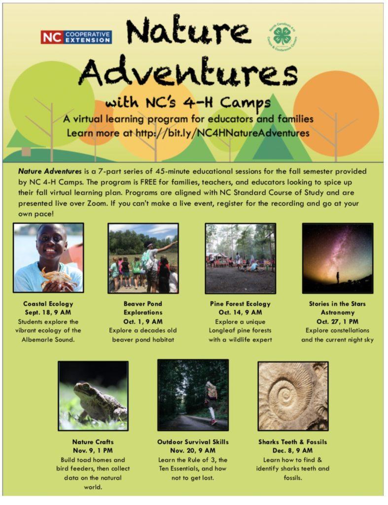 Nature Adventures flyer