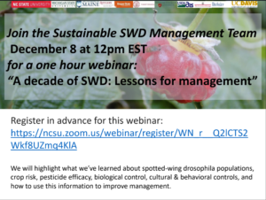 Cover photo for Spotted-Wing Drosophila Management Webinar